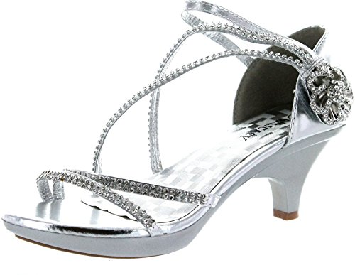 V-Luxury Delicacy Womens Angel-48 Party Dress Sandals Pumps,Silver,6.5