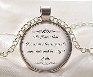 Citazione Inspirational collana-Ciondolo-il fiore-Mulan citazione-argento motivazionale gioielli regalo per donne e ragazze