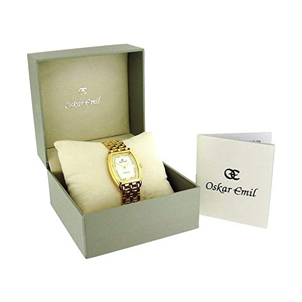 Oskar Emil Montrose Unisex Gents Ladies 23k Gold Plated Stainless Steel