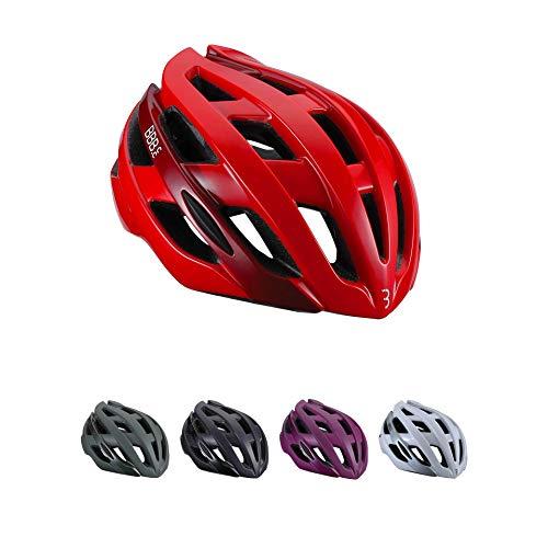 BBB Cycling Hawk BHE-151-Casco da bicicletta da donna e uomo, aerodinamico e 21 prese d'aria, rosso lucido unisex adulto, M (54-58 cm)