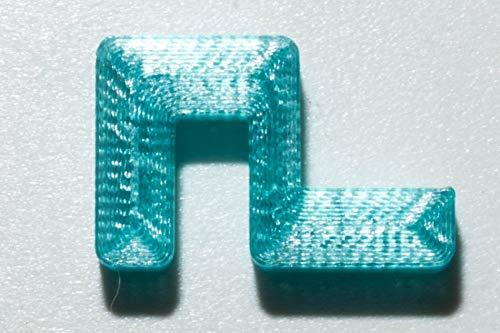 Garnelen Tom U-Line Abdeckscheibe Halter für Wandstärke 4 mm, Deckelstärke 4 mm, blau transparent, 4 STK.