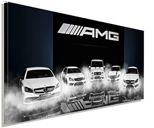 AK ART Mercedes AMG Pamorama Leinwandbild Kunstdruck Mehrfarbig Wandbild TOP XXL (120x60 cm)