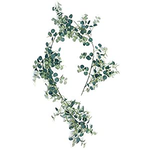 Plant for Home 5 Pcs Artificial Hanging Leaves Vines Twigs Fake Silk Plant with Rose for Home Kitchen Party Decorations Artificial Plastic Plant