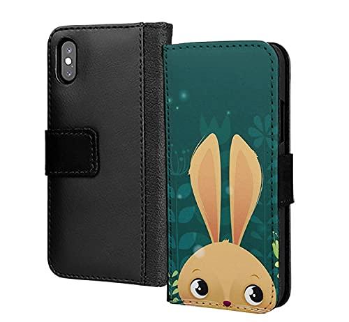 Lindo conejo de Pascua conejo animal zoológico pu cartera de cuero en tarjeta teléfono caso cubierta para Huawei P inteligente 2019