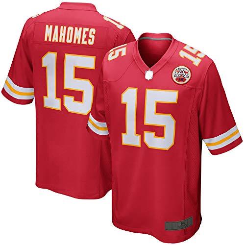 OYEO Mahomes #12 Custom American Football Rugby Trikots Patrick Outdoor City Chiefs atmungsaktiv Kansas Casual Red T-Shirts für Herren XL rot