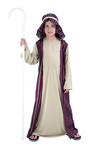 Fiori Paolo - Disfraz de San Jospe/Rey Magi/Virgen María para niño San José L (7-9 anni) marrón
