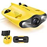 gladius MINI Underwater Drone, 4K UHD Underwater Camera for Real Time Viewing, Remote Controller and APP Remote Control, Dive to 330ft, Live Stream, Adjustable Tilt-Lock, Fish Finder, ROV