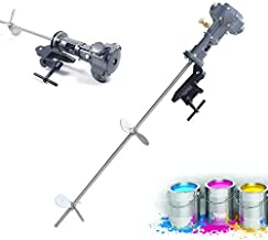 Pneumatic Paint Mixer 50 Gallon 1/2 HP Barrel Ink Coating Paint Air Agitator Stainless Steel Blade Diameter Automatic Stirring Machine Drill Paint Mixer for Industrial Barrel Ink Coating US Stock