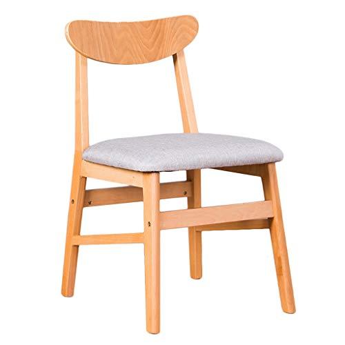 TXXM Silla de escritorio simple para estudiantes y silla de maquillaje, taburete de ordenador para la parte trasera del hogar (color: madera blanca g)