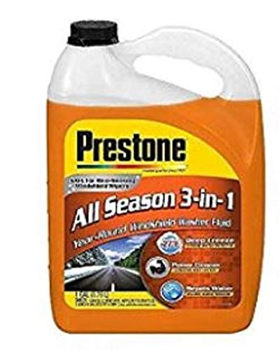 Prestone AS658 Deluxe 3-in-1 Windshield Washer Fluid, 1 Gallon
