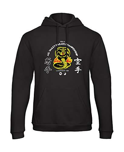 Bughyprint Felpa con Cappuccio Uomo Cobra Kai Karate Kid, 7/8 Anni