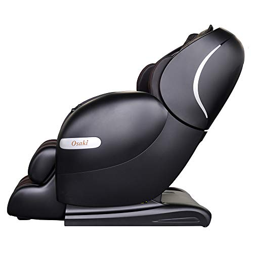 Osaki OS-Monarch Zero Gravity 3D SL-Track Massage Chair with Space Saving Technology in Cream, Bluetooth Connection for Speaker, 9 Unique Auto-Programs, 4 Massage Styles, USB Connector (Black)
