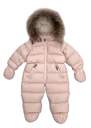 Eddie Pen Mellow Baby Daunen Schneeanzug mit Fellkranz, Rosa (Pink 102), Größe 18 Monate / 86