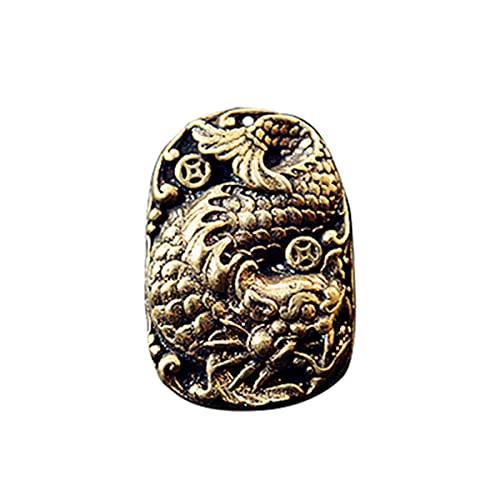 Abalorio de latón antiguo con diseño de pez dragón y dragón, accesorios para bricolaje, pulsera de paracaídas, accesorios para collares, cuentas de cordón, abalorios de latón