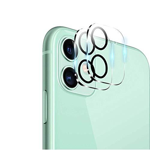 QULLOO Pellicola Fotocamera per iPhone 11, AntiGraffio Protettore Fotocamera in Vetro Temperato per iPhone 11-2 Pezzi