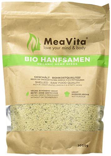 Meavita Bio - Semillas de cáñamo, peladas, 1 kg