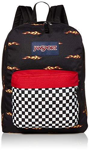 JanSport SuperBreak Backpack - Lightweight School Pack, Finish Line Flame