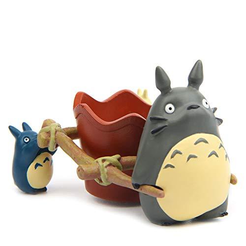 SCAU Totoro - Maceta para suculentas (resina, cactus, suculentas, macetas bonsái, para oficina, casa, balcón, decoración de paisaje, creativa, linda en miniatura (estilo6)