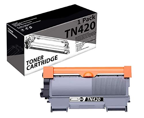 TN420(1 Pack-Black) Compatible Toner Cartridge Replacement for Brother DCP-7060D DCP-7065D Intellifax2840 2940 MFC-7240 7360N 7365DN 7460DN 7860DW HL-2130 2132 2220 2230 2240 2240D 2242D Printer.