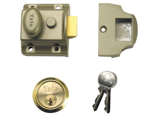 Yale Locks 706PB Verrou de sûreté traditionnel en laiton poli entrée 40 mm
