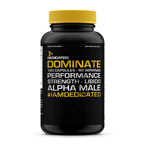 Dedicated Nutrition Dominate Testosteron Booster Trainingsbooster Bodybuilding 180 Kapseln