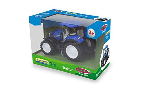 JAMARA 460531 - New Holland Traktor 1:32 - offiziell lizenziert, Spielspaß für die kleinen Landwirte, detailgetreues Design, blau