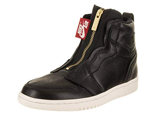 Nike Damen WMNS Air Jordan 1 High Zip Fitnessschuhe, Mehrfarbig (Black/Sail/University Red 016), 38.5 EU