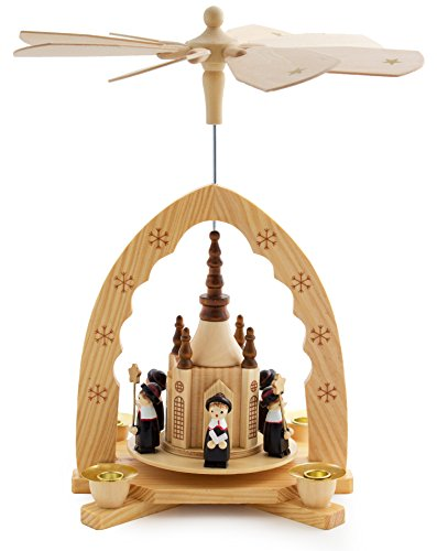 BRUBAKER Christmas Decoration Pyramid 12 Inches Nativity Play - Christmas Scene with Handpainted Figures - Limited Edition