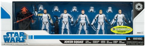 Star Wars 2009 Exclusive Joker Squad Set of 6 Action Figures (Includes First Ever Female Stormtrooper!)