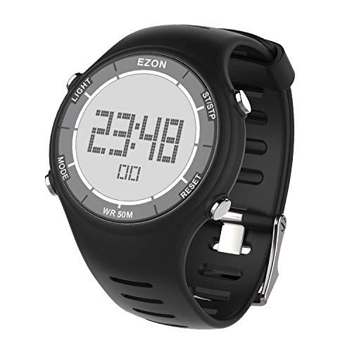 EZON L008 Reloj Deportivo Digital con Reloj Despertador Cronómetro y Cuenta Regresiva 50M Impermeable