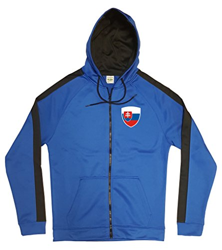 Slowakei Jacke Sweater Royal GO Slovensko Trikot Look Zip Nation Fussball Sport (M)