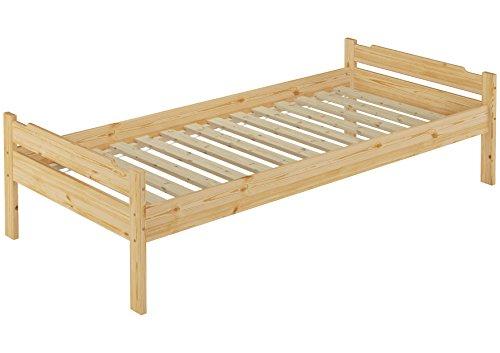 Erst-Holz 60.31-08 Einzelbett mit Rollrost - 80x200 - Massivholz Natur