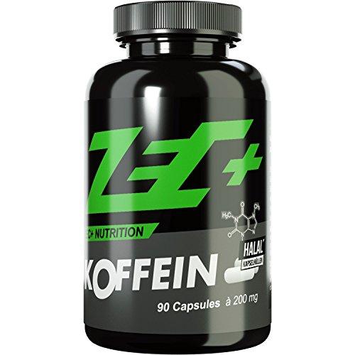 ZEC+ hochdosiertes KOFFEIN | 200 mg in Reinform | 90 Kapseln