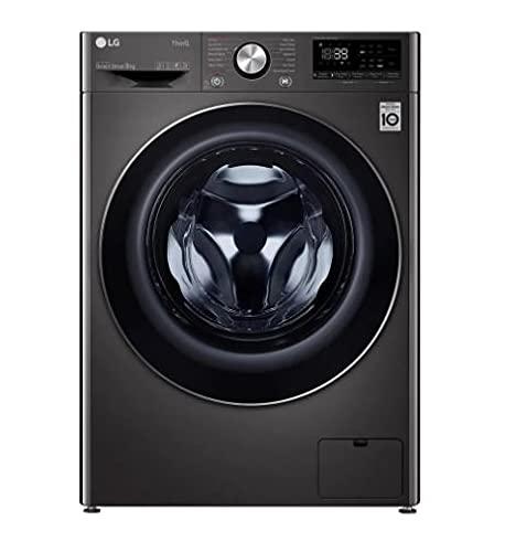 LG F6V1009BTSE Freestanding Washing Machine 9L 1600RPM Black Steel