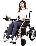 DBXOKK-Silla de Ruedas Silla de Ruedas motorizada - Silla de Ruedas eléctrica portátil Exclusiva Mejor calificada, Ligera, Plegable, Resistente - Silla de Ruedas para discapacitados