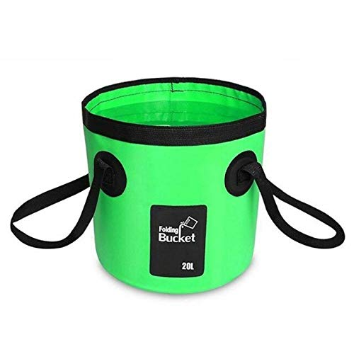 20l impermeable bolsas de agua pesca plegable cubo portátil almacenamiento bolsa portador al aire libre multiools camping Accesorios