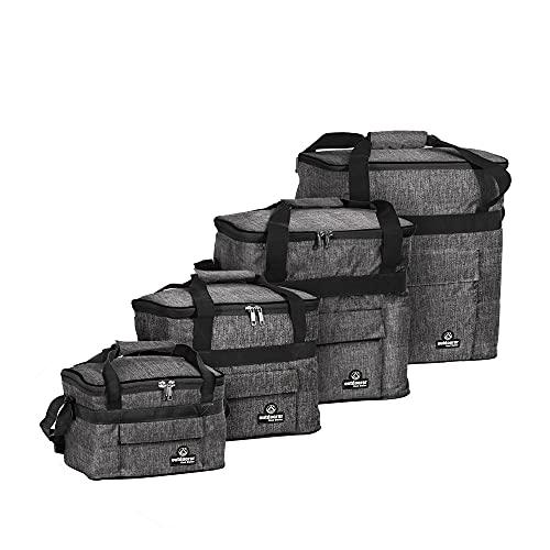 outdoorer Cool Butler 40 - Bolsa isotérmica grande, color gris y plegable, bolsa aislante para transportar alimentos