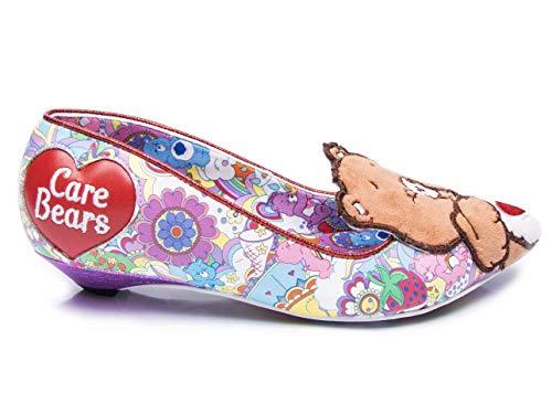 Irregular Choice Sharing is Caring, Zapatos de tacón con Punta Cerrada para Mujer, Morado (Purple A), 43 EU