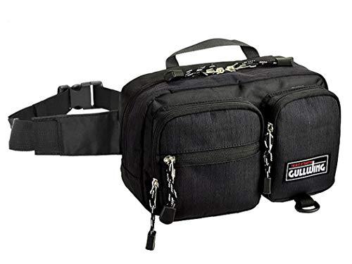ウエストポーチ メンズ ウエストバック ショルダーバッグ 軽量 軽い 大容量 大きめ おしゃれ CWH190804-05 黒 F