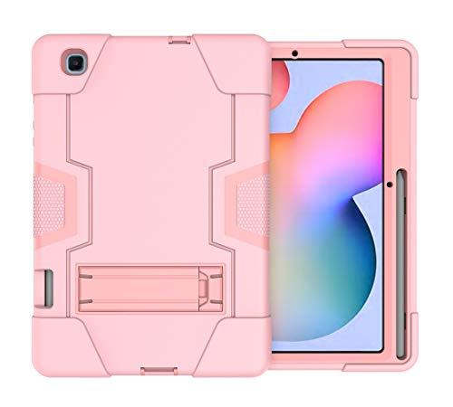 Neecio Funda para Samsung Galaxy Tab S6 Lite 10.4 (P610 / P615) 2020, 3 Layers Funda Protectora con Soporte para S Pen para Tab S6 Lite 10.4 Pulgadas (Rose Gold)