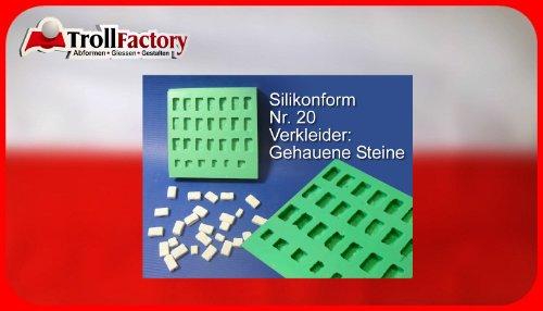 Unbekannt Giessform Silikonform Verkleider Verblender Krippenbausteine Set 20