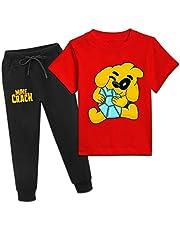M-ikecrac-k - Camiseta de manga corta y pantalones para niños mediados, pantalones deportivos para niños y niñas, conjuntos de ropa de algodón para niños