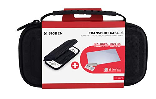 Big Ben - Accesorios Nintendo Switch Lite - Bigben Transport Case-S, Funda, Cristal Templado