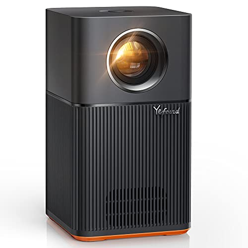 Yefound T1 Proiettore WiFi Bluetooth Proiettore, Full HD 1080P Nativo Supporta 4K Proiettore, 4D Correzione Trapezoidale Zoom 10W Altoparlanti Schermo 200  Proiettore Home Cinema per iOS Android