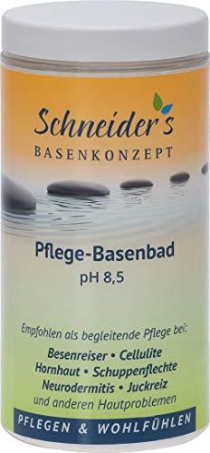Schneider's Pflege-Basenbad - von Heilpraktikern entwickelt - Badesalz - Besenreiser - unterstützt die Entsäuerung Schneider's Qualität - Hergestellt in Deutschland (600g)