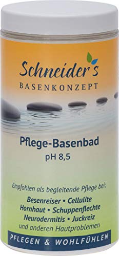 Schneider\'s Pflege-Basenbad - von Heilpraktikern entwickelt - Badesalz - Besenreiser - unterstützt die Entsäuerung Schneider\'s Qualität - Hergestellt in Deutschland (600g)