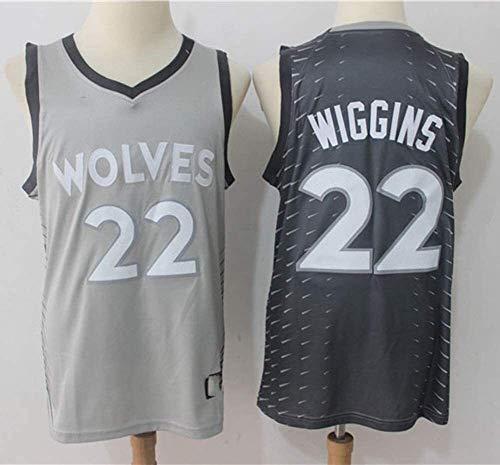 Jersey Men's NBA Minnesota Timberwolves 22# Andrew Wiggins Retro Malla Bordado Chalecos Tops T Shirts (Color : A, Size : XX-Large)