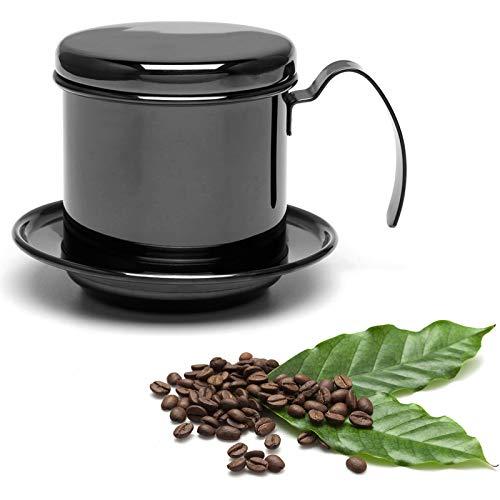 Nicoone Filtro de café para máquina de café, filtro de goteo de café vietnamita, filtro de café de goteo para oficina, hogar, viajes, etc. - negro