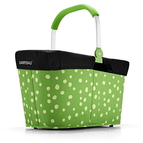 reisenthel - EXKLUSIVES ANGEBOT! carrybag + GRATIS passendes cover ! Einkaufskorb Einkaufstasche (spots green)