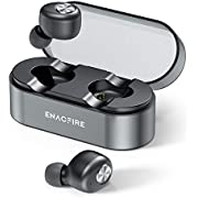 Auriculares Bluetooth, ENACFIRE E18 Plus Auriculares inalámbricos Mini Twins APTX HD In-Ear Sport Bluetooth 5.0 con Caja de Carga inalámbrica Portátil Y Micrófono Integrado 48h reproducción, IPX8
